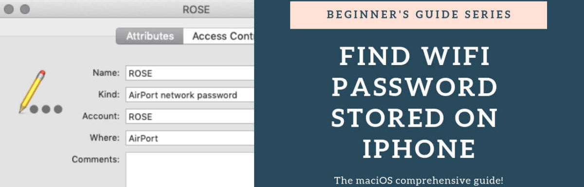 How to find WiFi password stored on iPhone, iPad, a​nd Mac