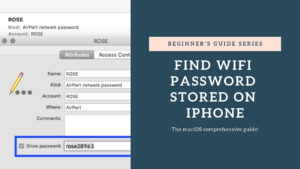 FIND WIFI PASSWORD STORED ON IPHONE
