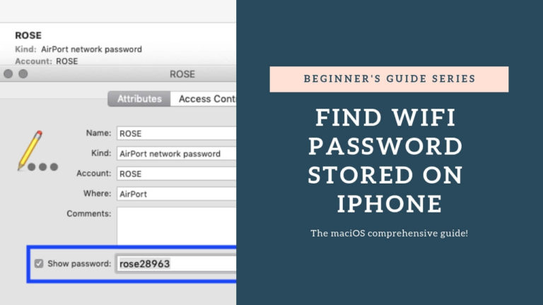 How to find WiFi password stored on iPhone, iPad, a nd Mac - The maciOS