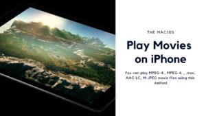 play movies on iphone or ipad