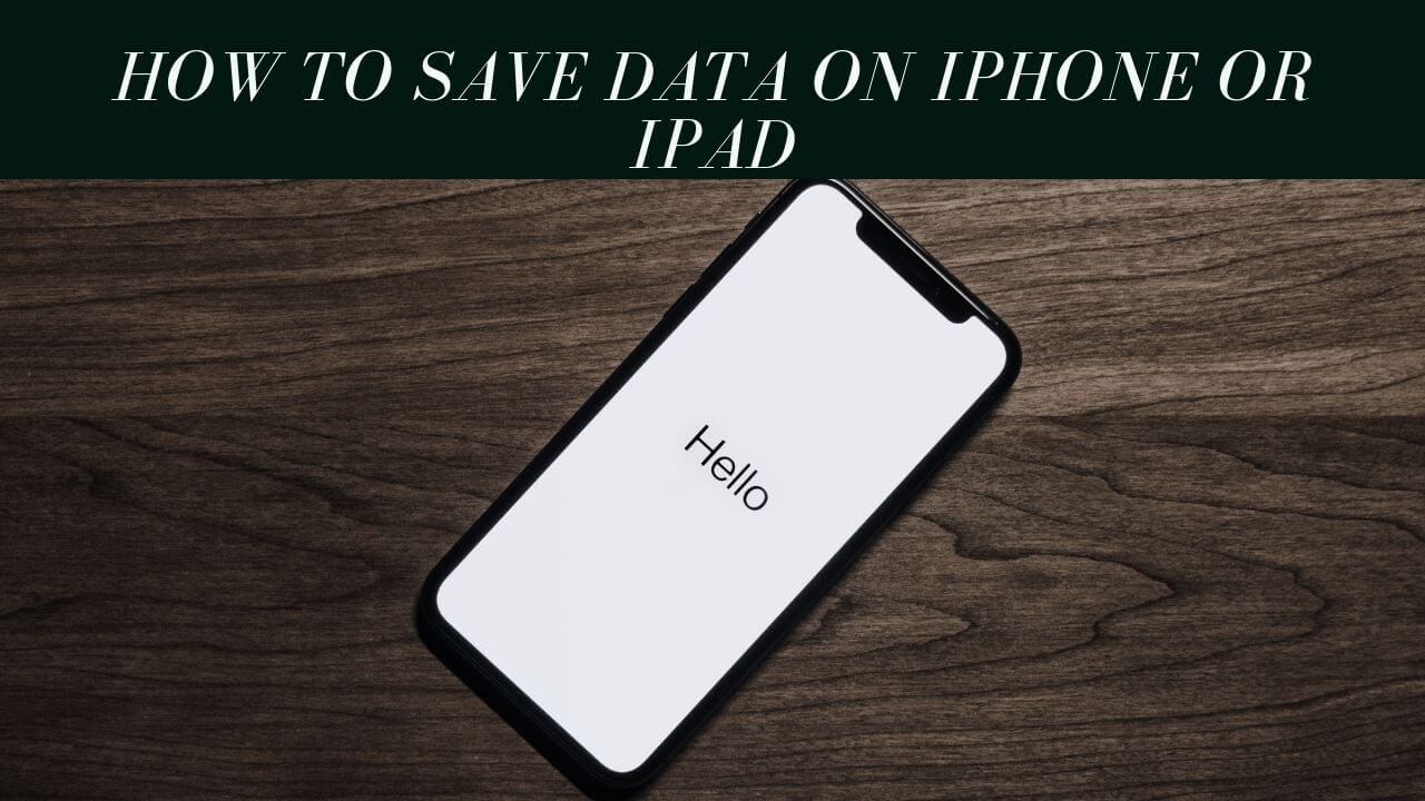 how to reduce data usage on iPhone