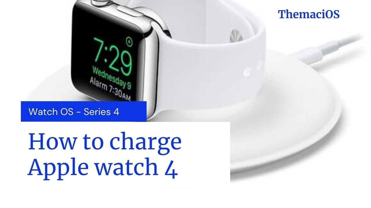 How to charge apple watch