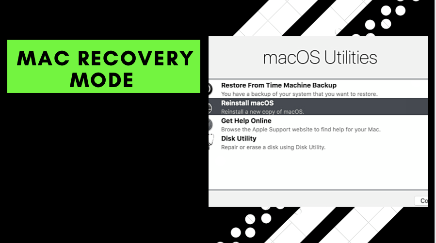 Mac Recovery Mode Boot MacBook Air Pro in recovery mode