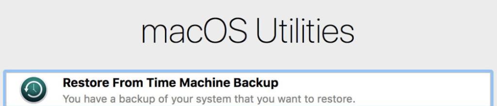 Restore From machine Backup mac recovery mode