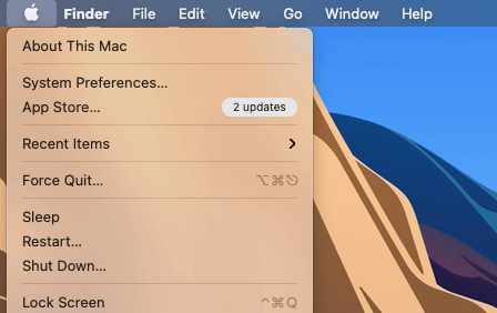 click on system preferences to block sites