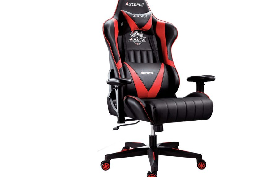 Autofull red black gaming chair for PS4 xbox and pc