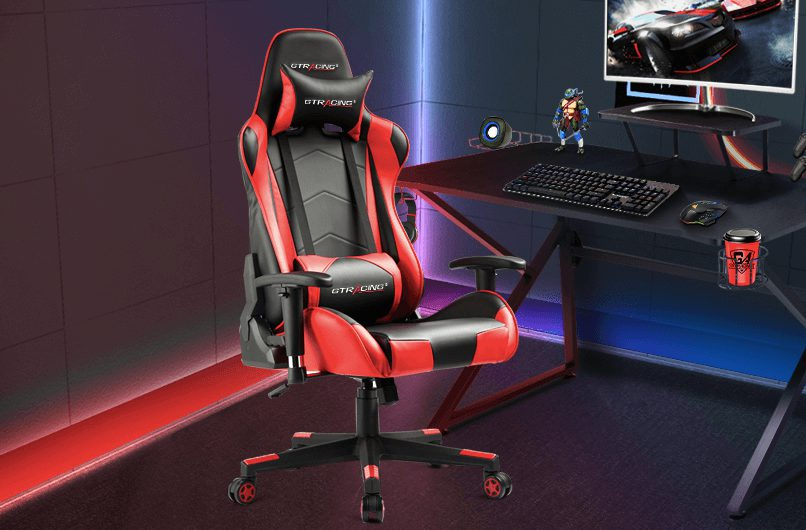 GTRACING red and black gaming chair under 150