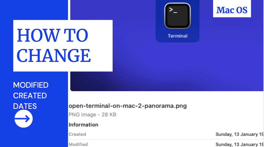 How to Change File date created and modified on Mac OS