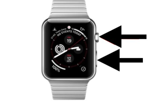 Take screennshot apple watch and save under iphone camera