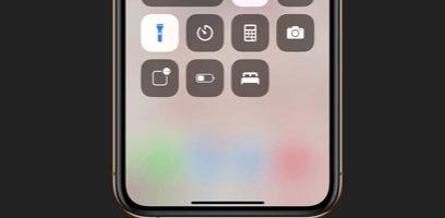 turn off flashlight on iphone and ipad