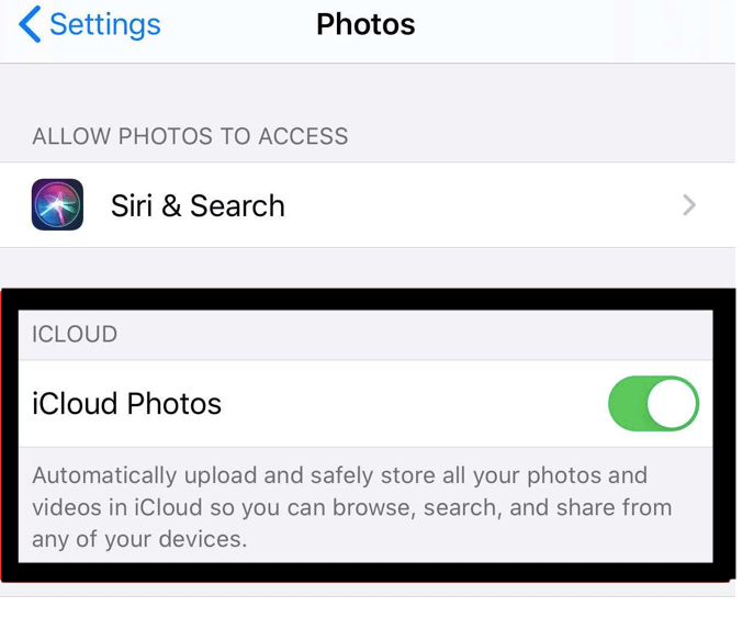 Turn off iCloud Photos to stop syncing photos.