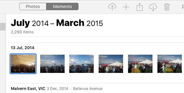 select single photo to delete from icloud library