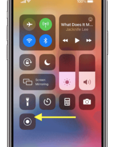 2 Touch and hold the Record button to enable screen recording on iphone ipad