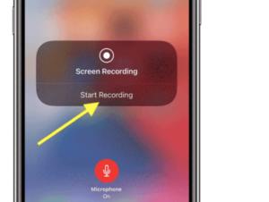 Tap Start iphone screen Recording