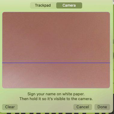 6 create signature on mac using camera