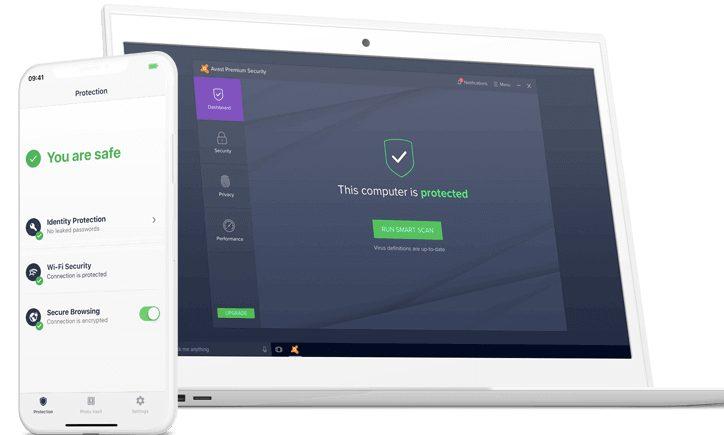 Avast Premium Security scans websites