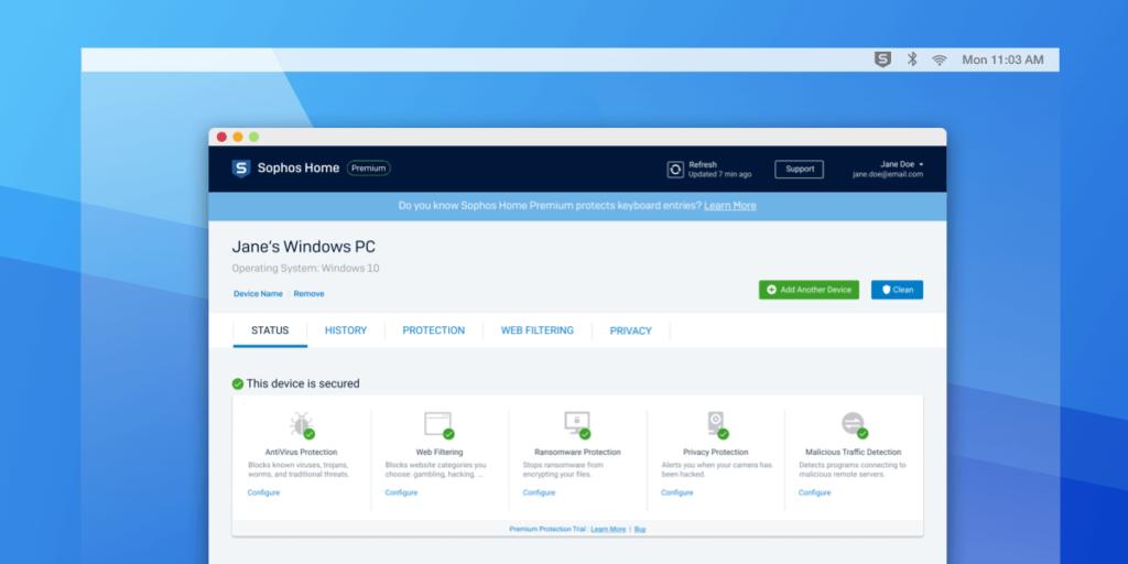 Sophos Home Premium antivirus and web scanner