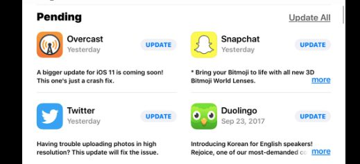 update apps app store for malware and virus scan
