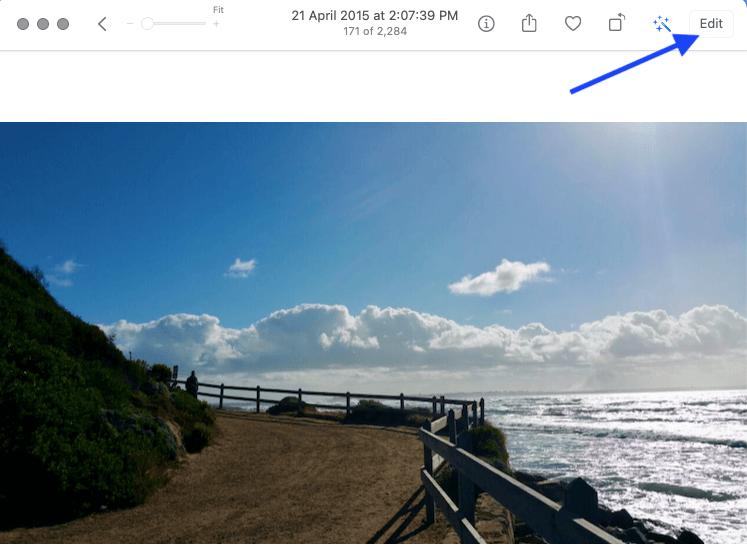 2 click edit toolbar to start Photo editing