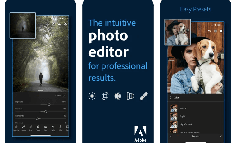 Adobe Lightroom Photo Editor for RAW and DSLR photography on iPhone and iPad