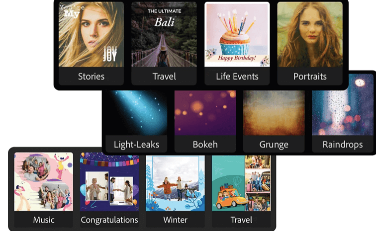 Choose from hundreds of themes and eye-catching effects