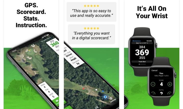 Golf GPS SwingU best apple watch app for golf