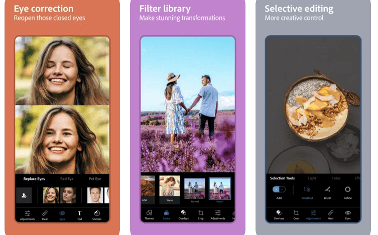 Photoshop Express Photo Editor Professional Editing apps for beginners