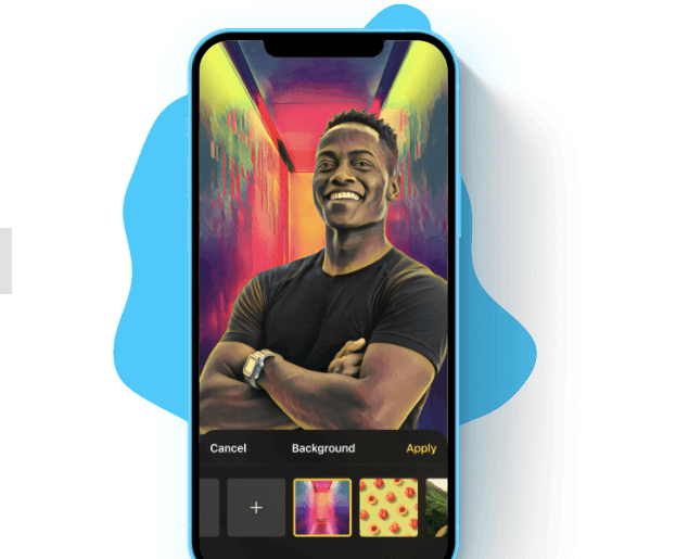 Prisma background replacement on iPhone