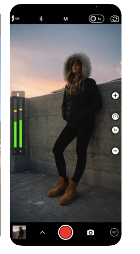 ProCamera 8 Live shutter speed, ISO, focus, and WB values