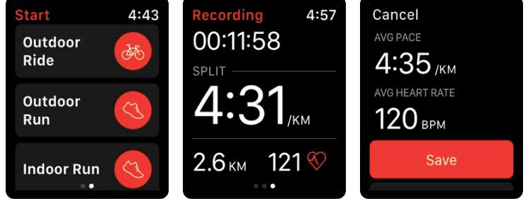Strava Run, Ride, Swim app for apple watch
