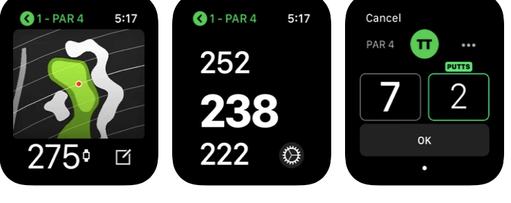 TAG Heuer Golf app for apple watch