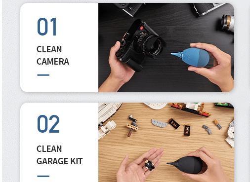 Use Air Blaster to remove screen corner debris