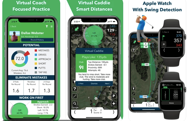V1 Game Golf GPS and score tracker for apple watch
