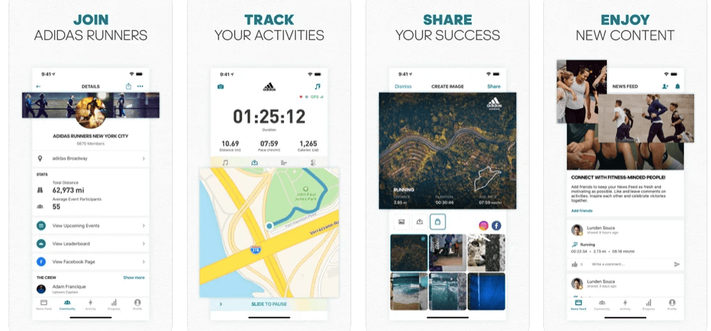 adidas Running App Runtastic Distance, Sports & Run Tracker