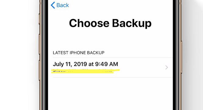 choose a backup