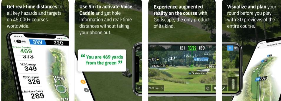 Golfshot Golf GPS Caddie Auto Shot Tracking Stats