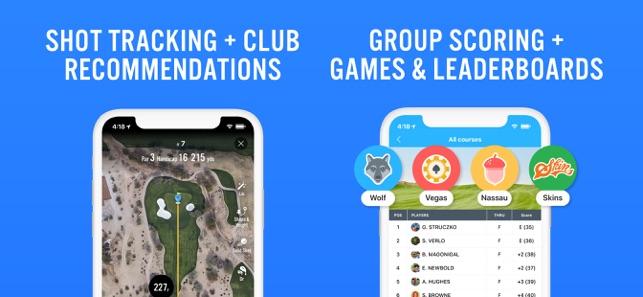 18Birdies Scorecard Yardage range finder and scoring