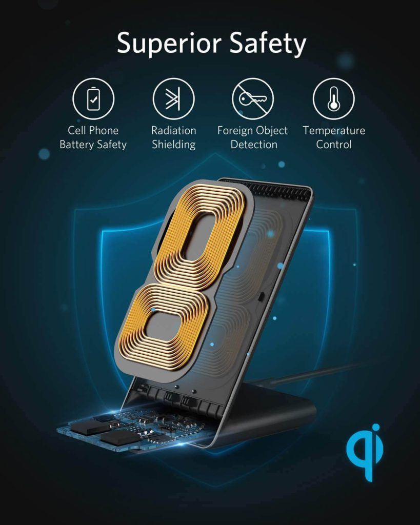 Anker Wireless Charger, PowerWave Stand with safety