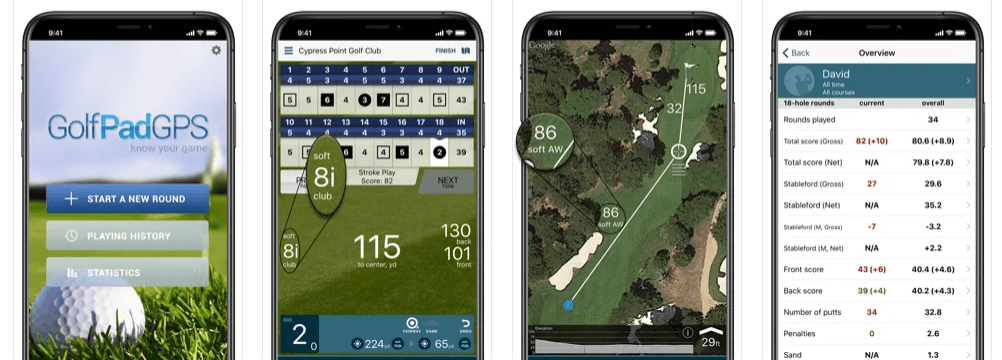 Golf Pad Fast accurate golf rangefinder