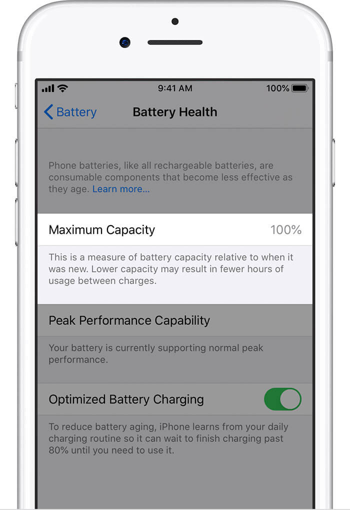 Steps to check iPhone battery health