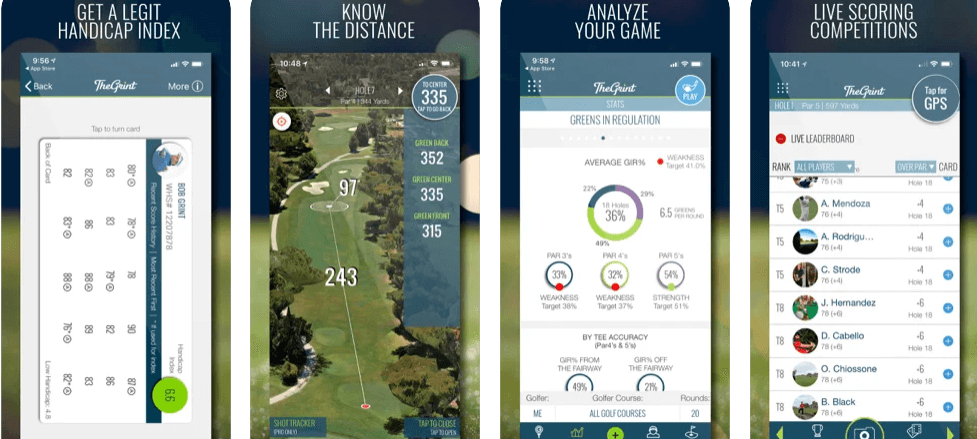 TheGrint Golf GPS & Handicap Score Tracker & Golfing Stats