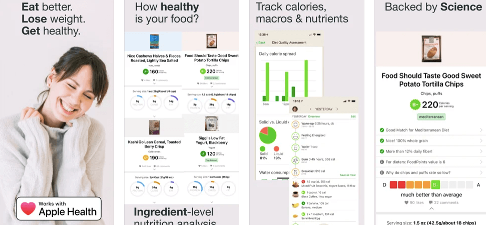 Fooducate Excellent iPhone Weight loss app With Nutrition & Diet Tracker