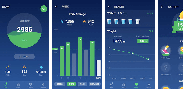 Leap Top rated Pedometer and pacer app for Android