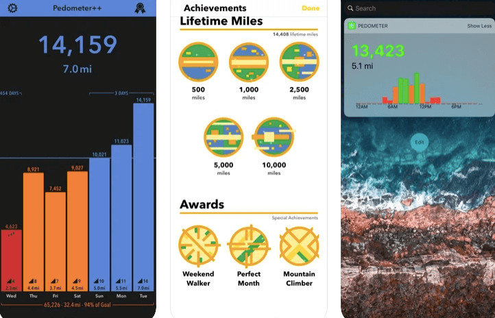 Pedometer++ integrates with the Health app