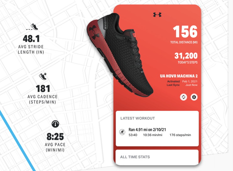SYNCS WITH UNDER ARMOUR RUNNING SHOES