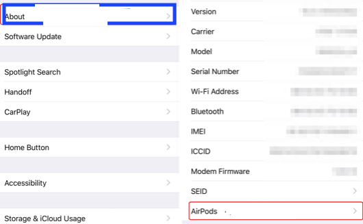 Scroll down and select the name of your AirPods Pro.